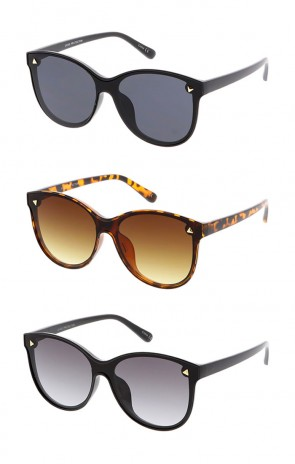 Women's Plastic Round Shield Frame Wholesale Sunglasses