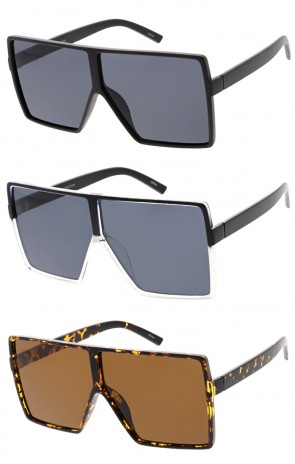 Oversize Retro Modern Futuristic Square Aviator Wholesale Sunglasses