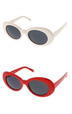Retro 90's Fashion Oval Round Wholesale Sunglasses (Clout Goggles)