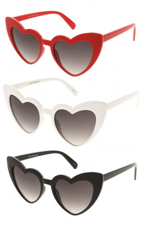 Womens Heart Shape Wholesale Sunglasses
