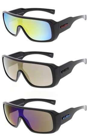 Kush Action Sport Large Mono Revo Lens Aviator Wholesale Sunglasses