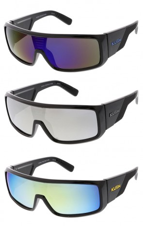 Oversized Sport Kush Mirror Lens Wholesale Sunglasses