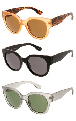 Indie Horned Rim Half Frame Sunglasses