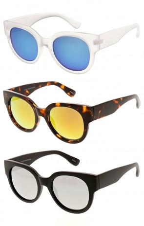 Retro Frame Mirror Lens Round Wholesale Sunglasses