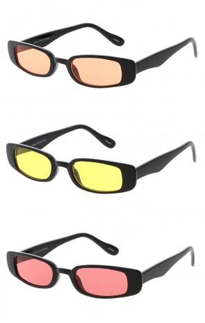 Vintage 1990's Color Lens Rectangle Wholesale Sunglasses