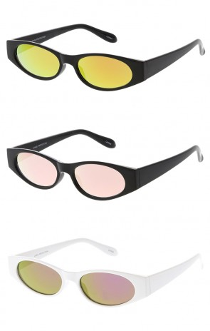 Edgy Small Mirror Cat Eye 90s Vintage Wholesale Sunglasses