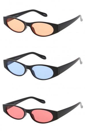 Edgy Small Colored Lens Cat Eye 90s Vintage Wholesale Sunglasses
