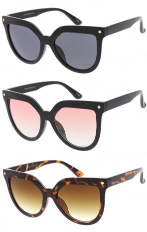 Women's Studded Bold Cat Eye Fashion Wholesale Sunglasses