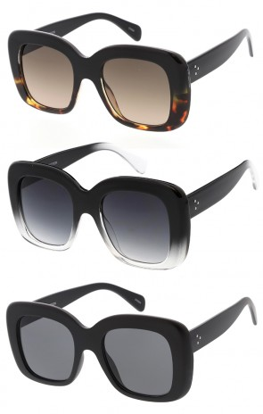 Bold Oversized Horned Rim Flat Lens Wholesale Sunglasses