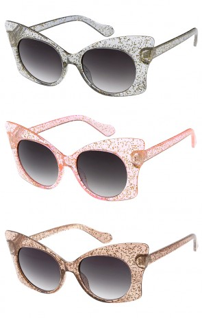 Oversized Transparent Butterfly Wholesale Sunglasses