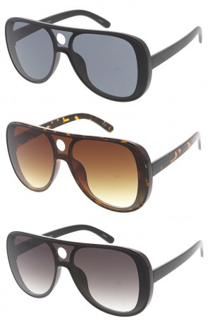 Large Retro Aviator Shooter Wholesale Sunglasses