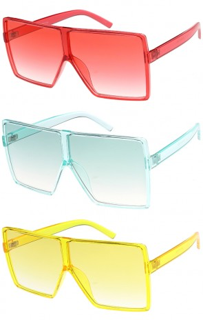 Retro Oversize Square Colorful Wholesale Sunglasses