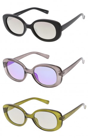 Retro 1990's Clout Mirror Lens Wholesale Sunglasses
