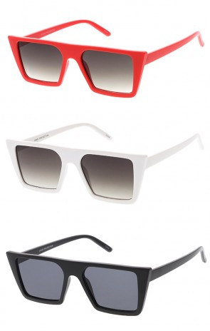 Retro Square Flat Top Cat Eye Flat Lens Wholesale Sunglasses