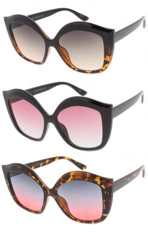 Oversized Fashion Gradient Wholesale Sunglasses
