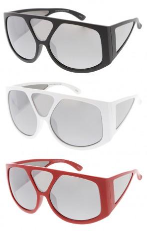 Oversized Wide Fashion Mirror Lens Wholesale Womens Sunglasses