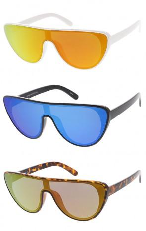 Retro Aviator Flat Top Revo Lens Cat Eye Wholesale Sunglasses
