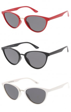 Mid Sized Cat Eye Retro Style Wholesale Sunglasses