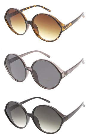 Oversized Retro Round Lens Wholesale Womens Sunglasses