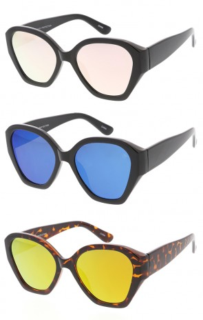 Vintage Inspired Geometric Fashion Wholesale Sunglasses