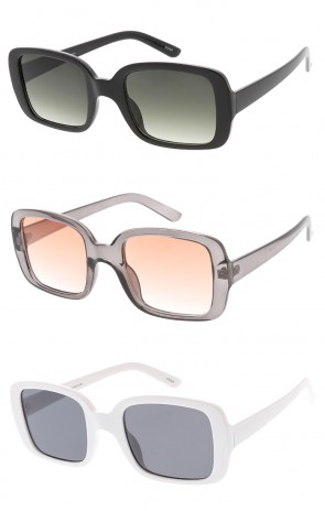 Chunky Plastic Rectangle Womens Wholesale Sunglasses