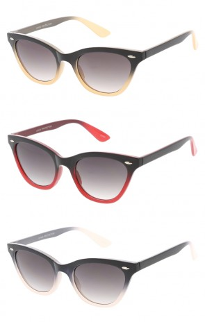 Small Cat Eye Half Tint Womens Wholesale Sunglasses