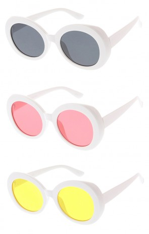 Oversized Round Retro Clout Goggles Color Lens Wholesale Sunglasses