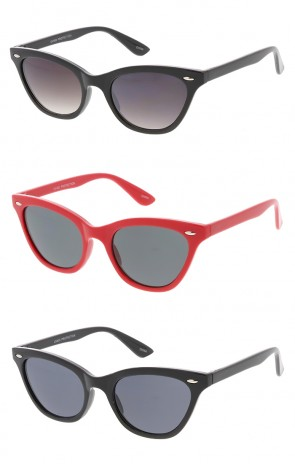 Thin Horn Rimmed Cat eye Womens Wholesale Sunglasses
