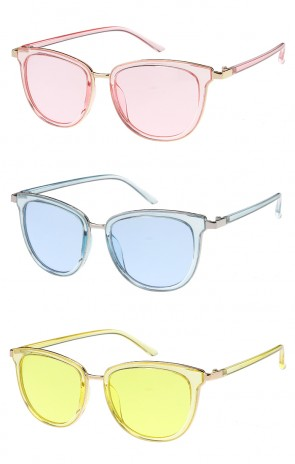 Vintage Metal Framed Color Lens Wholesale Sunglasses