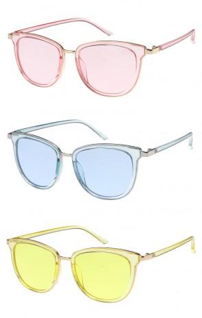 Vintage Metal Framed Color Lens Wholesale Sunglasses