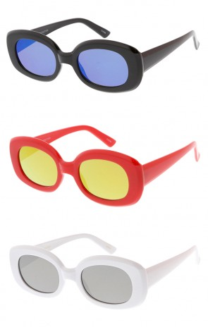 Retro Square Clout Goggles Mirror Lens Wholesale Sunglasses