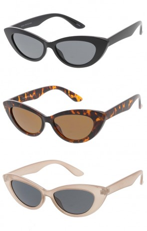 Club Style Horn Rimmed Wholesale Sunglasses with Rivets - Color Lens