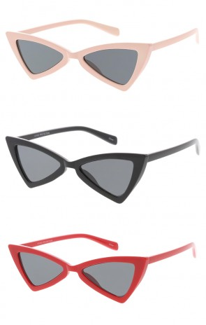 Plastic Triangle Cat eye Womens Wholesale Sunglasses