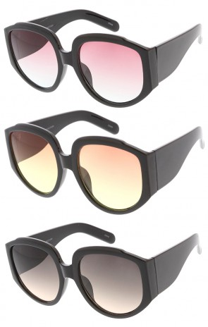Oversized Chunky Wide Arm Color Lens Womens Wholesale Sunglasses