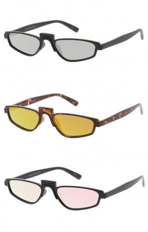 Medium Cat Eye Mirror Lens sunglasses Wholesale