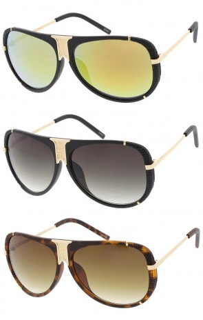 Fashion Luxury Matte Round Aviator Wholesale Sunglasses