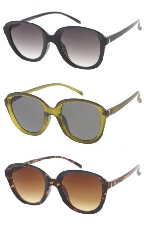Oversized Round Indie Horned Rim Wholesale Sunglasses