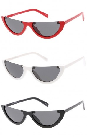 Flat Top Half Frame Wholesale Sunglasses