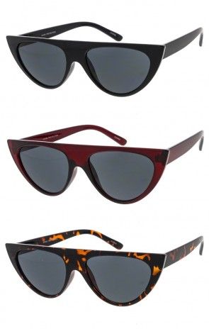 Chucky Flat Top Cat Eye Womens Wholesale Sunglasses