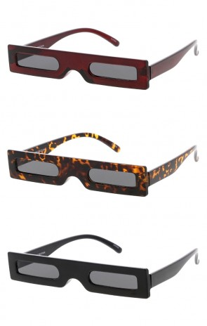 Thin Rectangle Frame and Lens Wholesale Sunglasses