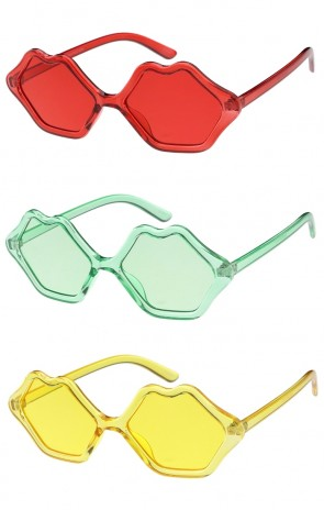 Womens Lips One Color Frame and Lens Wholesale Sunglasses