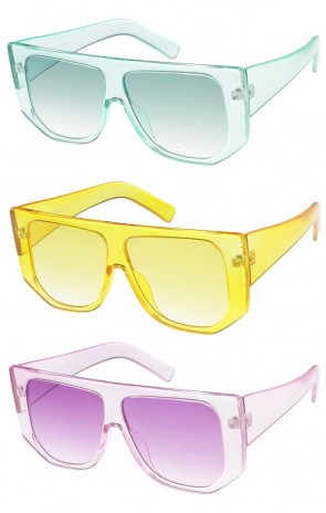 Bold Translucent Square Color Tint Wholesale Sunglasses