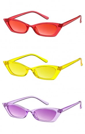 Small Retro Color Frame Cat Eye Womens Wholesale Sunglasses