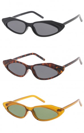 90's Small Cat Eye Oval Lens Wholesale Sunglasses