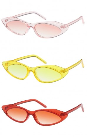 Womens Retro Style Rounded Cat Eye Wholesale Sunglasses