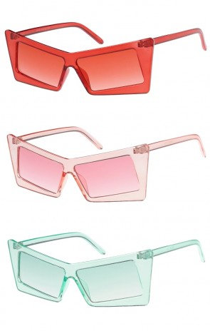 Retro Rectangle Cat Eye Color Tinted Wholesale Sunglasses