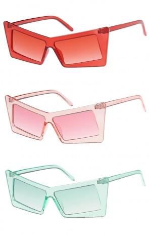 Retro Rectangle Cat Eye Color Tinted Wholesale Sunglasses