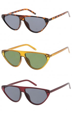 Womens Flat Top Cat Eye Wholesale Sunglasses