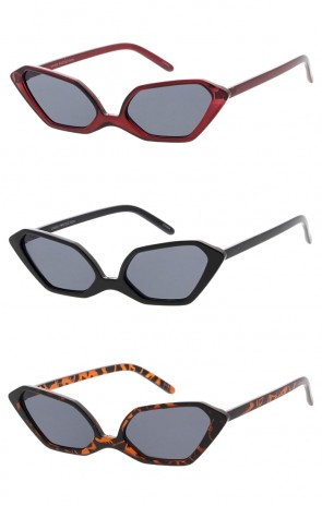 Thin Angular Cat Eye Womens Wholesale Sunglasses