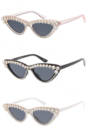 Women's Retro Rhinestone Cat Eye Wholesale Sunglasses